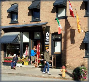 Merrickville, Ontario street scene.