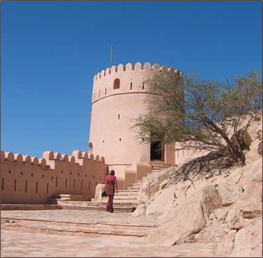 Oman forts and castles, heritage architecture restored.
