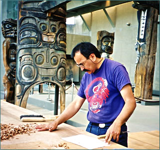 Contemporary native culture and art is fostered at Vancouver's Museum of Anthropology.