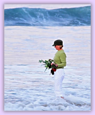 Woman walking in the sea, Living Your Destiny with Meaningful Travel.