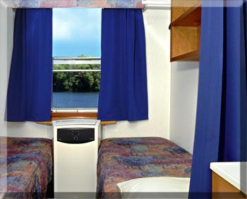 Ontario Waterway Cruises cabin.