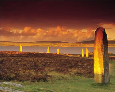 Orkney Islands is home to dozens of ancient monoliths dating from 5,000 years ago.