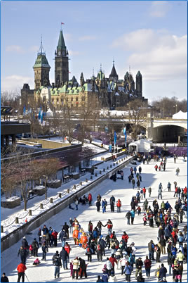 Ottawa's Rideau Canal in Winter: Ottawa is a Capital with Class.