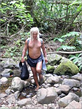 Pa leads visitors on nature tours of Rarotonga, Cook Islands.