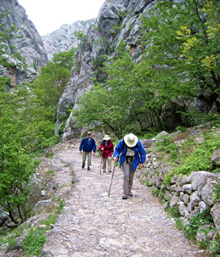 Paklenica Gorges National Park, Croatia on a seniors tour with ElderTreks.