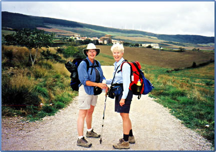 Women hiking holidays on the Camino de Santiago, Spanish walking holiday.