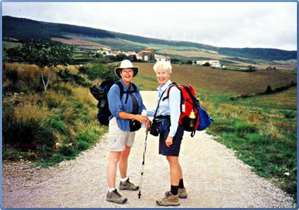 Women hiking holidays on the Camino de Santiago, Spanish walking holiday.