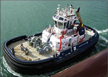 Panama Canal tugboat.