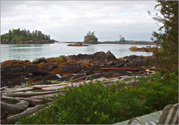A Snug Harbour Inn view, Ucluelet, British Columbia, Canada.
