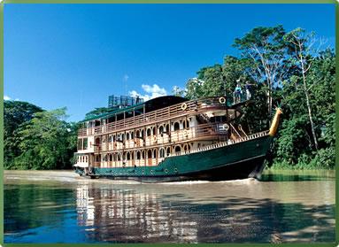 La Amatista small ship cruise on Peru Amazon Rivers.