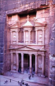 Petra is a UNESCO World Heritage Site in Jordan.