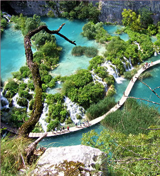 Plitvice National Park for senior travel with ElderTreks.