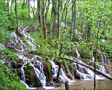 Plitvice National Park, world heriitage sites of Slovenia and Croatia on an ElderTreks seniors travel tour.