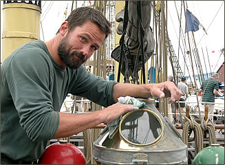 Actor, Billy Campbell, participates in The Tall Ships' Races every year.