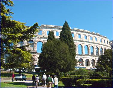 Arena of Pula, Istrian Peninsula, Croatia.