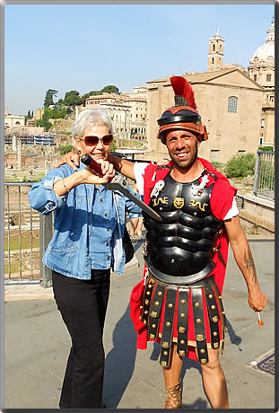 Roman gladiator: A senior traveler shares her tips for safe, flexible and fun holidays, while choosing to travel alone.