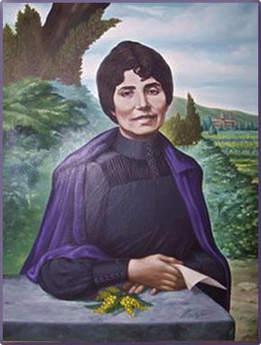 Rosalia de Castro portrait, poet of Galicia, Spain.
