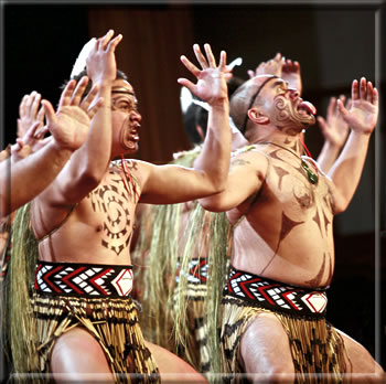 Maori haka warriors: Rotorua, New Zealand: Maori Culture and Wellness Holidays.