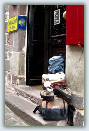 travel to Christian pilgrimage sites, Saint-Jean-Pied-de-Port, France.