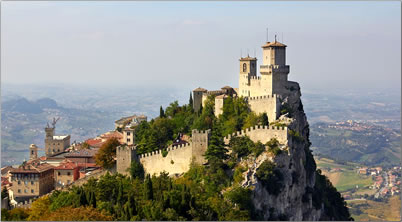 San Marino is 5th smallest country in the world, heritage fortification.