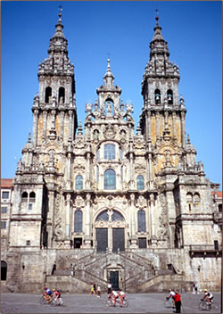 Northern Spain's Santiago de Compostela is a pilgrimage vacation for millions of visitors.