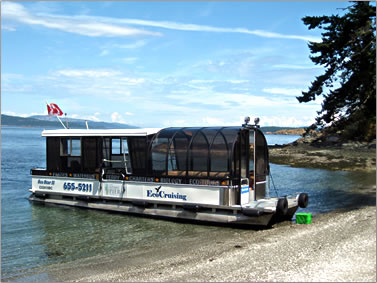 EcoCruising vessel for viewing marine animals and birds on Pacific Coast of Canada.