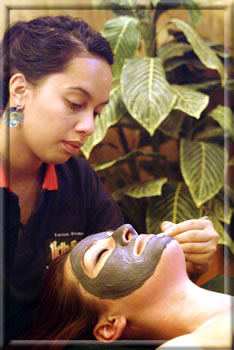 Mud facial: Rotorua New Zealand wellness holidays.
