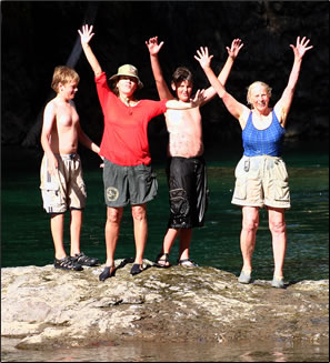 Strathcona Park Lodge offers multi-generational family holidays: Intergenerational Adventures.
