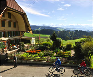 On Switzerland's 18 designated active adventure routes there are welcoming accommodations and eateries.