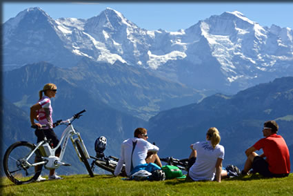 Switzerland's Outdoor Adventures, hiking and cycling in Switzerland.