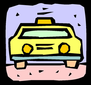 Graphic of a taxi cab.