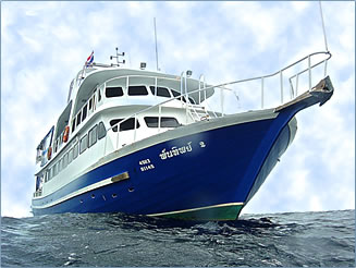Thailand liveaboard scuba diving boat.