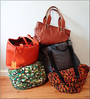 Collection of five bags, Tips for packing luggage.