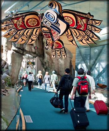 Pacific Passage at Vancouver International Airport, Aboriginal Art Airport Vancouver.