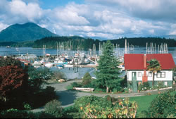 Tofino fishing village, west coast of Vancouver Island, Canada