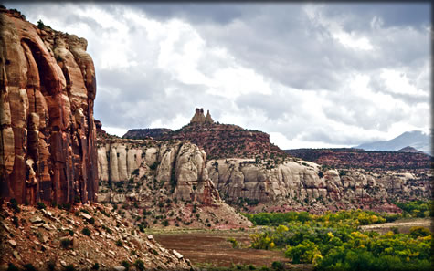 Wilderness photography: Battle of the Bulges buttress, Utah.