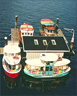 Vancouver Granville Island attractions include travel by harbor ferries.