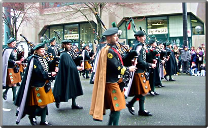 St Patrick's Day parade in Vancouver.