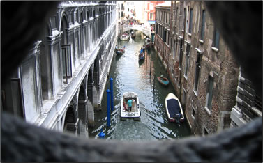 View from Bridge of Sighs: Venice, Italy: A City that belongs to the World.
