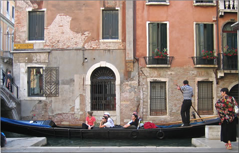 Gondola ride: Venice, Italy is a UNESCO World Heritage Site ideal for exploring by barge and river cruises.