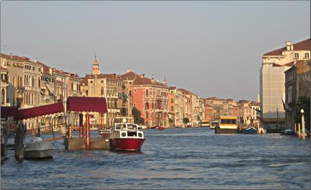 The Grand Canal, Venice, Venice UNESCO World Heritage Site.