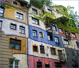 Hundertwasser Village and Hundertwasserhaus in Vienna, Austria.
