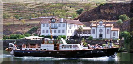 Wine tasting on a river cruise in Portugal.