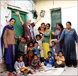 Cross-Cultural Solutions volunteer in India embodies volunteerism in travel.