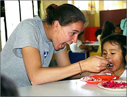 Cross-Cultural Solutions volunteer in Peru.