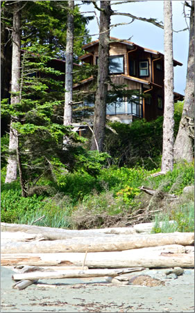A view of Wya Point Resort's lodges, Ucluelet, B.C.
