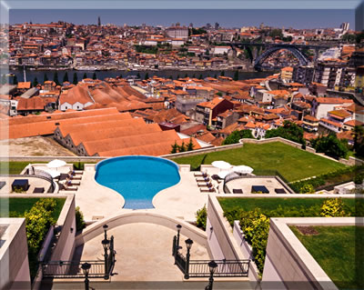 View from the Yeatman Hotel overlooks historic Porto, Portugal.