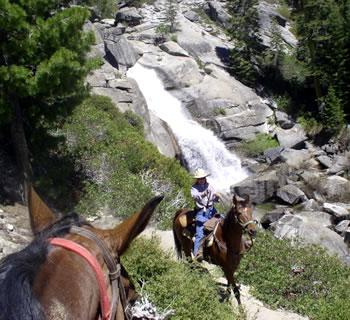 California Yosemite National Park active horseback vacations.