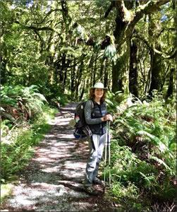 Hiking New Zealand's Milford Track.