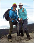 Article about a senior who prepares for and climbs to the summit of Tanzania's Mt Kilimanjaro.